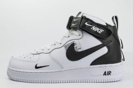 кроссовки Nike Air Force 1 Mid 07 lv8 Fur White / Black