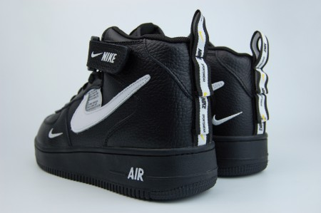 кроссовки Nike Air Force 1 Mid 07 lv8 Fur Black / White
