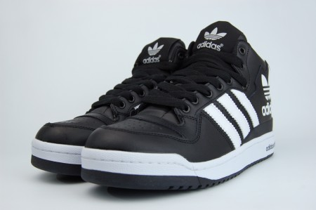 кроссовки Adidas Forum Mid Fur Black / White