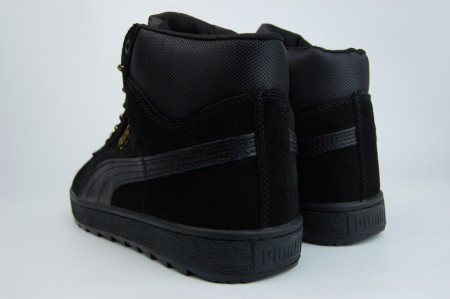 кроссовки Puma Suede Mid Fur Triple Black