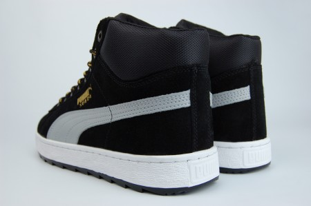 кроссовки Puma Suede Mid Fur Black / White