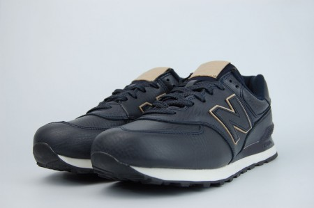 кроссовки New Balance 574 Leather Navy