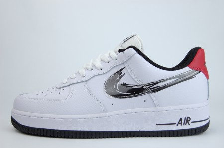 кроссовки Nike Air Force 1 Low Brushstroke White